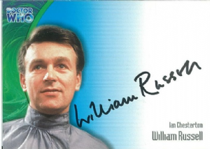 Doctor Who  WILLIAM RUSSELL as Ian Chesterton  AUTOGRAPH CARD AU07, Strictly Ink  -  10634